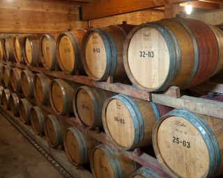 Barrels of alcoholic beverages